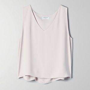 New! Aritza Babaton Gray Silk Tank Top